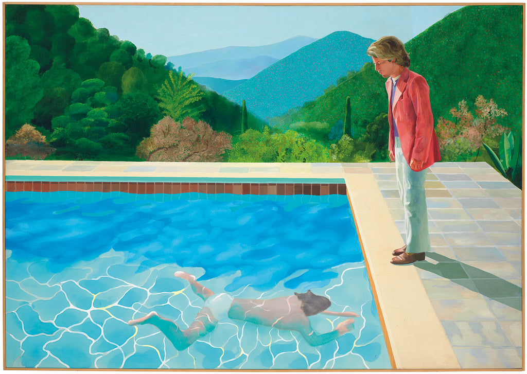 David hockney portrait of an artist