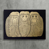 3 Monkeys (Gold/Black) Exclusive Print