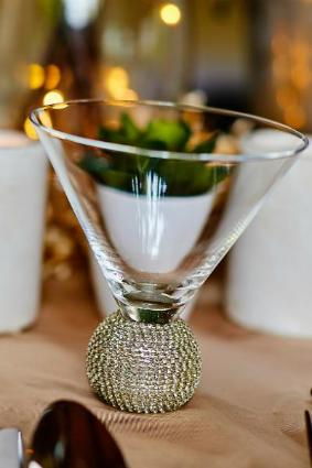 Silver Jewelled Cocktail Glass