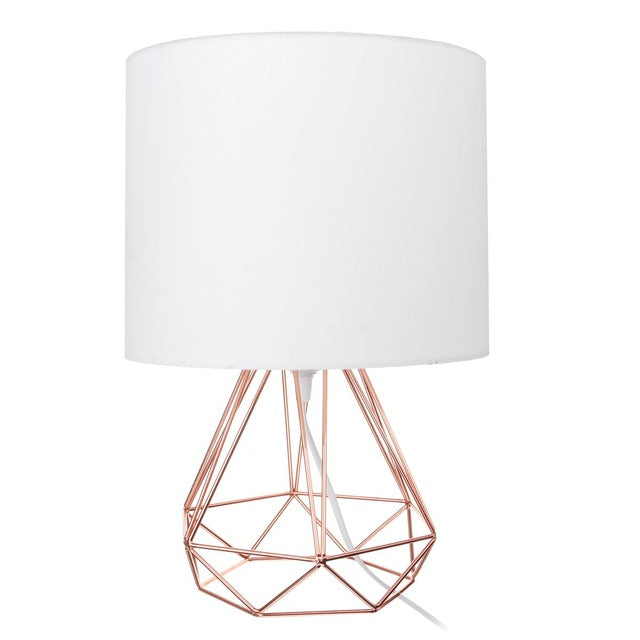 Geometric Table Lamp with Shade
