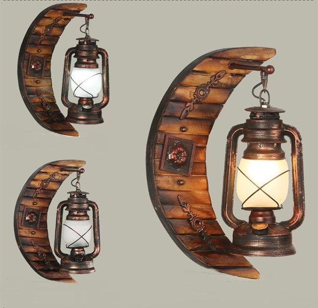 vintage looking lantern wall lamp