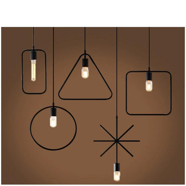 Iron pendant light in 5 shapes