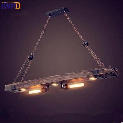 Industrial pendant light with vintage looking beam