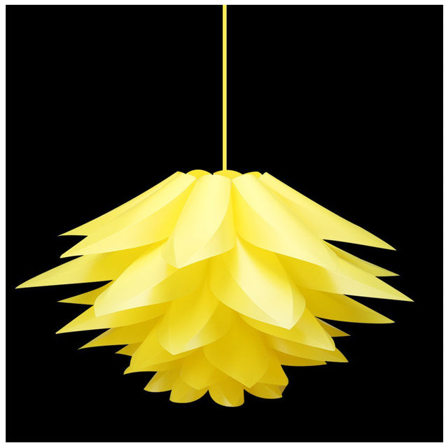 Yellow Lotus Flower hanging lamp shade 52 CM