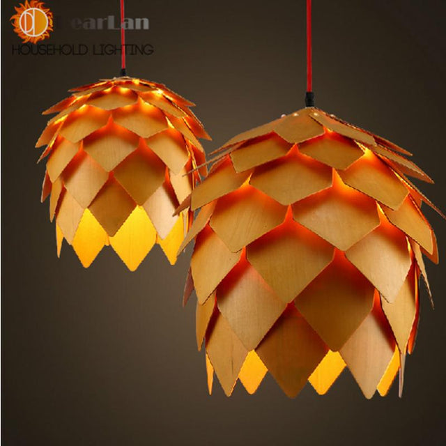 Modern Wooden Art Pendant Light  - 3 sizes
