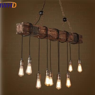 Industrial looking chandelier with string lights