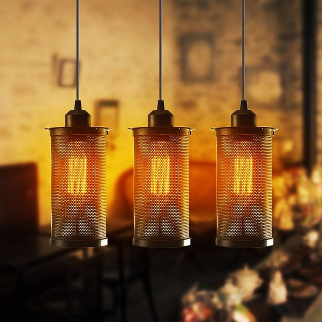 Metal vintage pendant light and Edison lightbulb