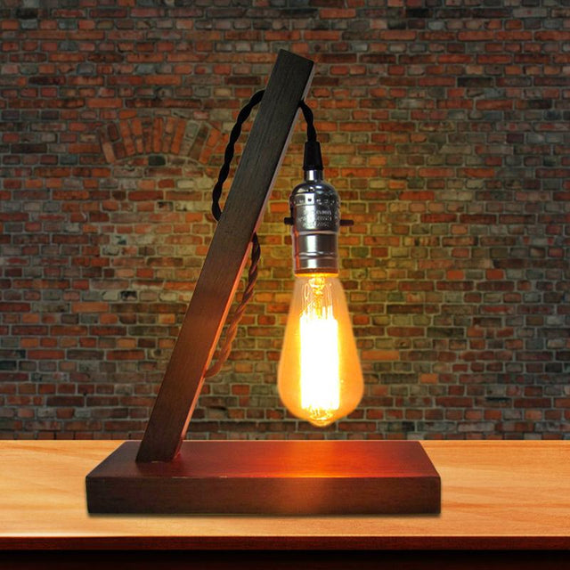 Simple vintage lamp with Edison bulb