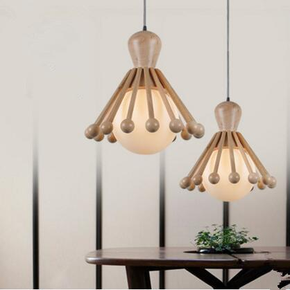 Retro wooden Pendant light