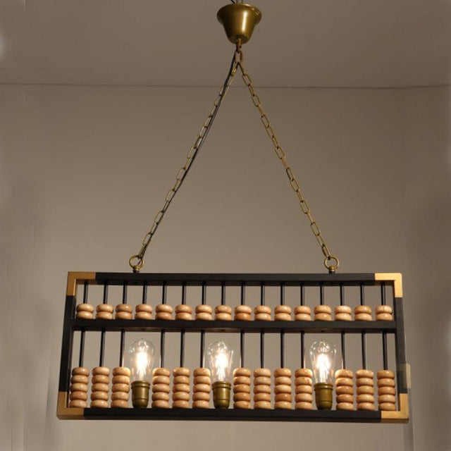 Chinese abacus pendant lights