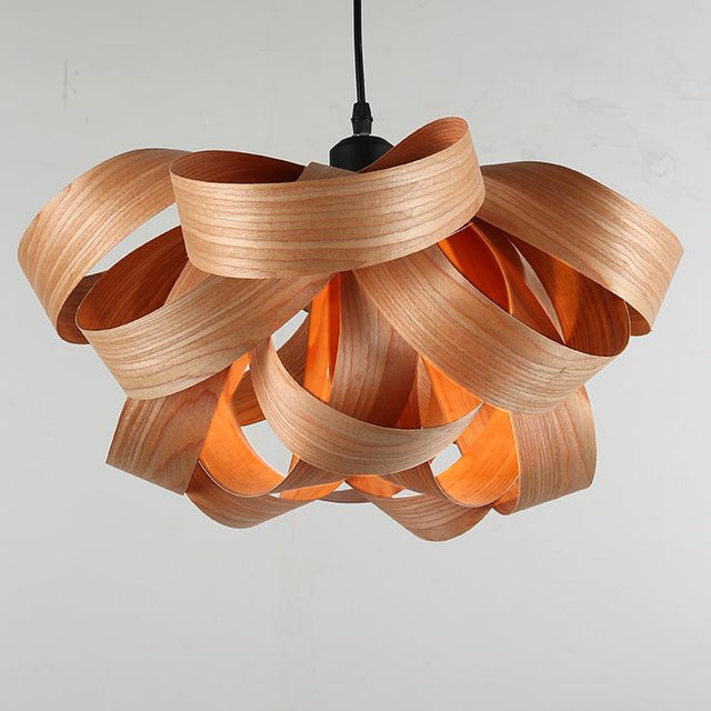 Artistic Wood Pendant Lamp