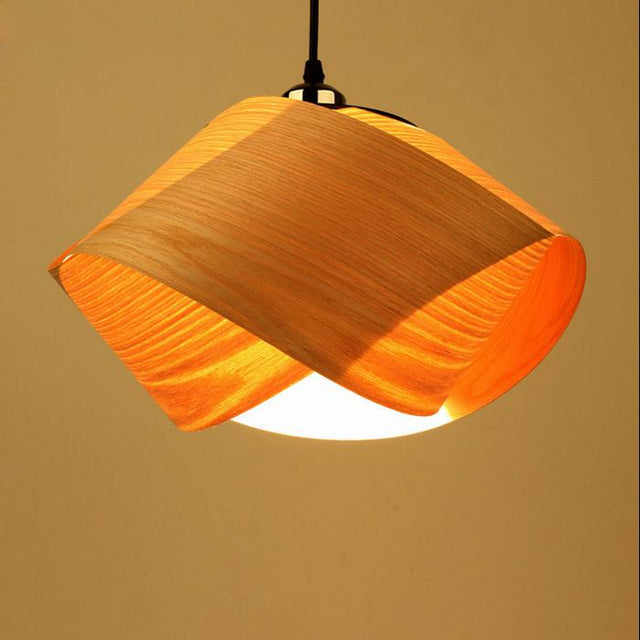 Wood loop pendant light