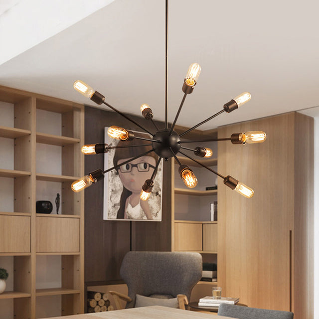 Modern metal chandelier with 12 lights