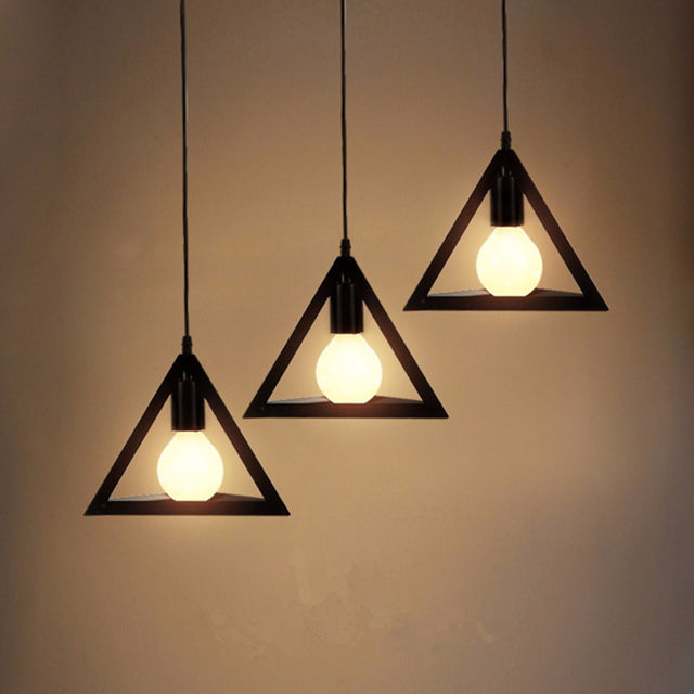 Modern 3D Triangle Pendant Lights
