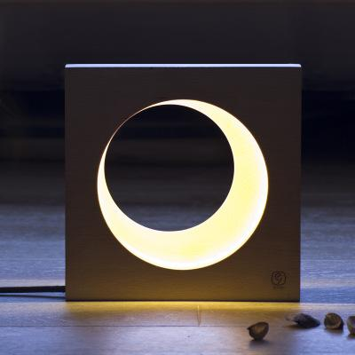 Full or crescent moon LED night lamp