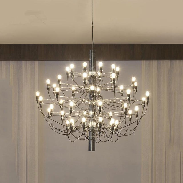 Modern Chromed chandelier in 3 different sizes
