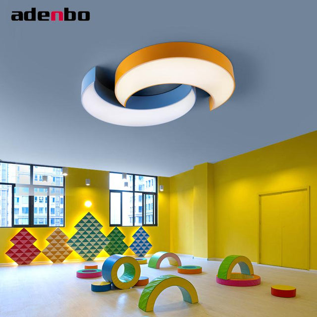 LED moon ceiling lamp in different colors