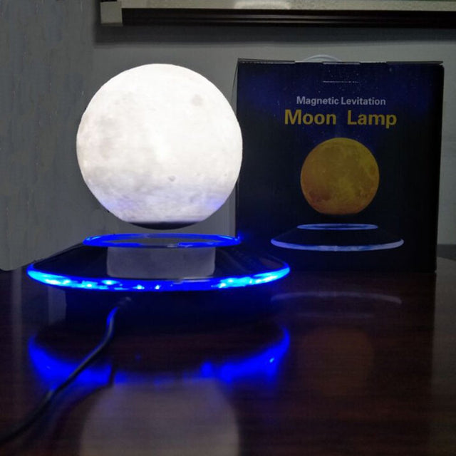 Magnetic base with 12 cm 3D Moon floating light