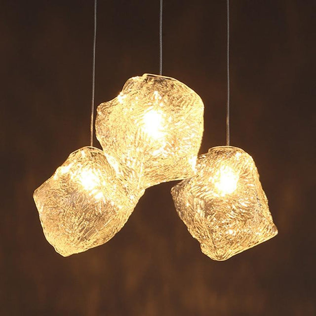 Hanging crystal pendant light