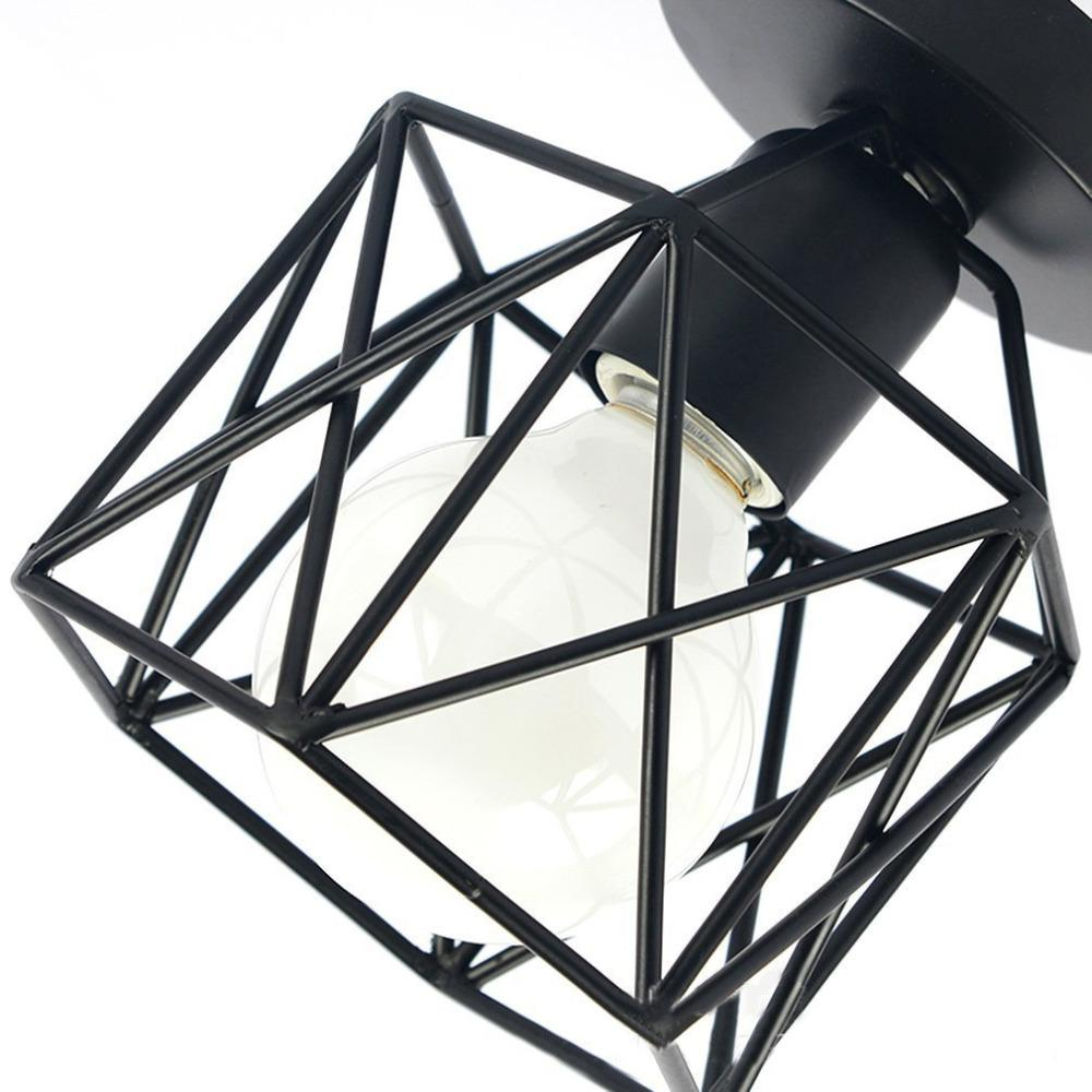 Black aged ceiling light