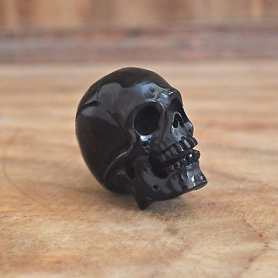 Lot-10Pcs-Hand-Carved-45-50mm-Human-Skull-Natural-Buffalo-Horn-Carving-Undrilled