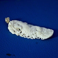 Hand-Carved-Dragon-Myth-2-7-Buffalo-Bone-Pendant-Necklace-Bead-BP1997