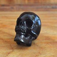 Hand Carved 40-45 mm Human Skull Natural Buffalo Horn Carving Undrilled