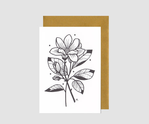 Printcatcher Tami Hopf Letterpress illustration carte de voeux