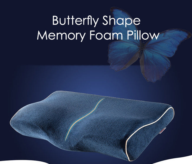 The Butterfly-Shaped Memory Foam Pillow