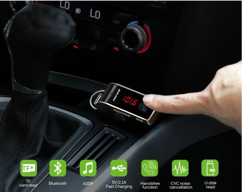 4-in-1 Wireless Bluetooth Car Kit