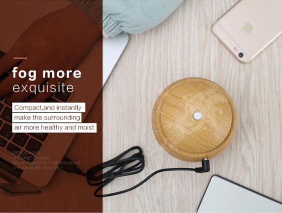 Mini Wooden Aroma Diffuser Ultrasonic Humidifier