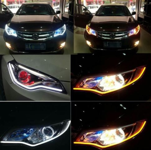 Universal Flowing LED Car Headlights (1pair)