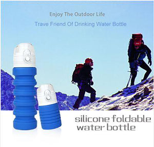 Collapsible Foldable Silicone  Water Bottle