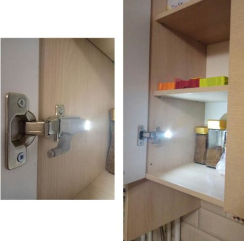 Cabinet Hinge LED Sensor Light ( 2pcs/Set )