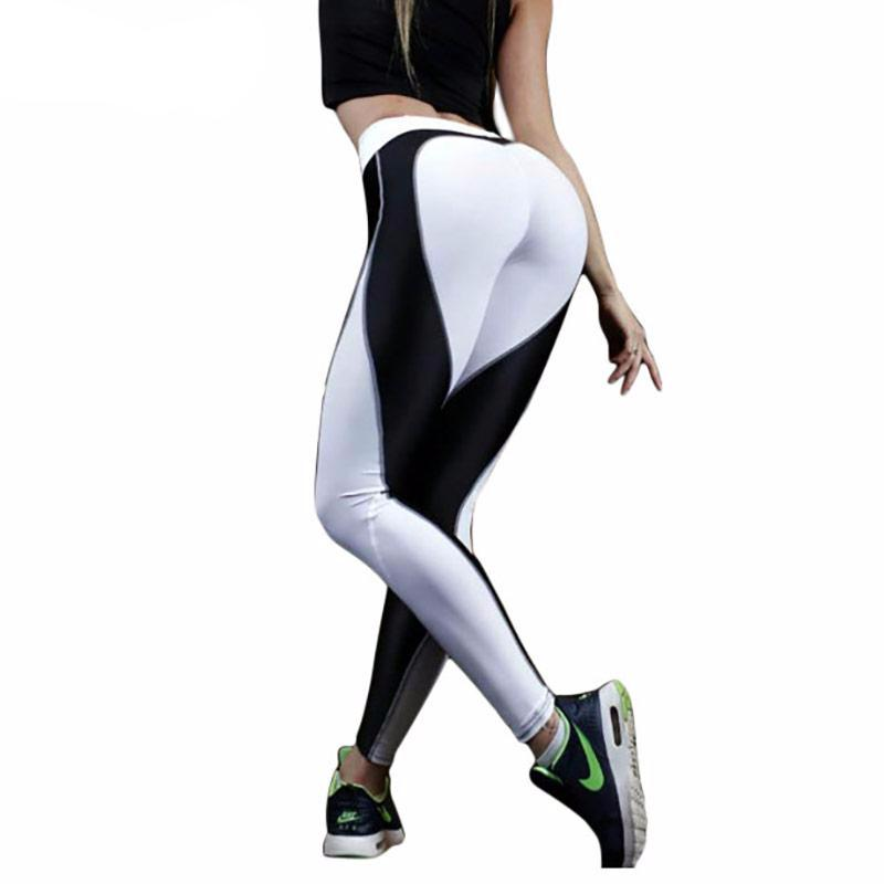 Fashion Heart Pattern Mesh Splice Leggings