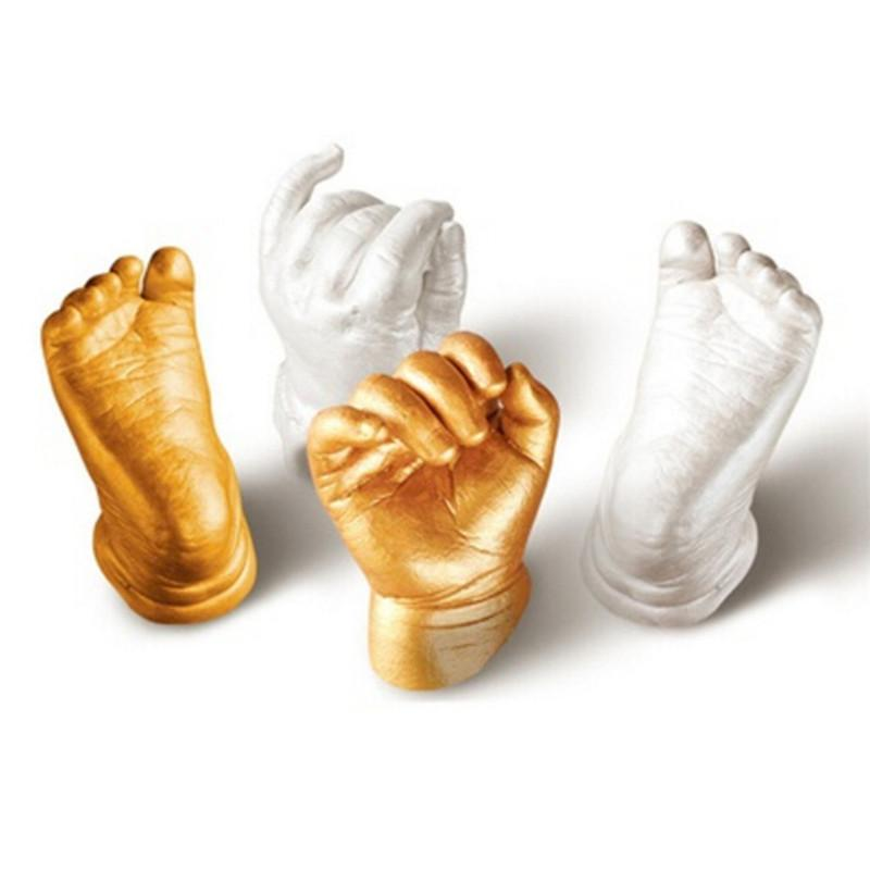 3D Plaster Mini Baby Hand & Foot Keepsake Gifts (1 Set)