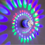 Multi-Color Spiral LED Wall Light