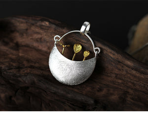 Sweet Garden Silver Pendant Necklace