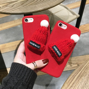 3D Hat Cute Fur iPhone Case