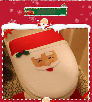3 in 1 Christmas Toilet Seat Cover Set