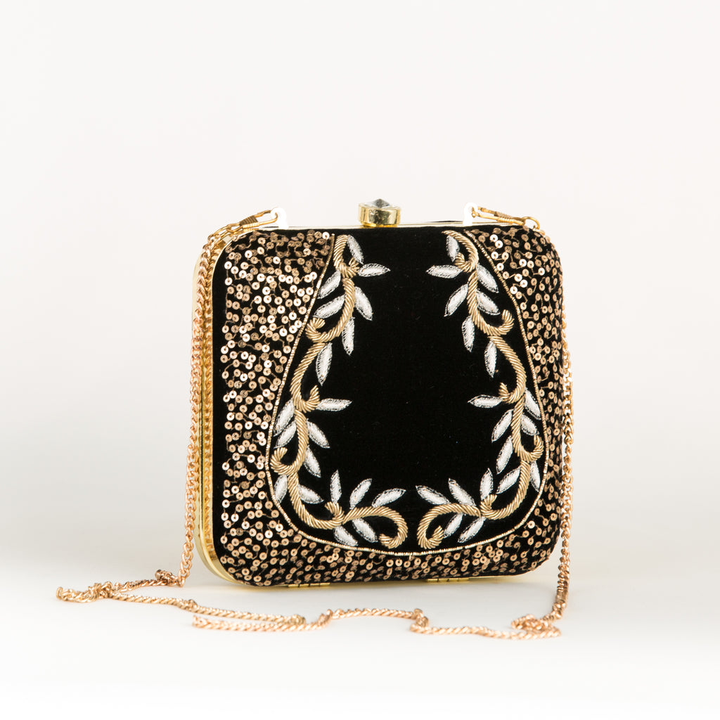 Black Garden Party Clutch