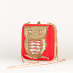 Bird Embroider Party Clutch + Free KN95 Protective Face Mask