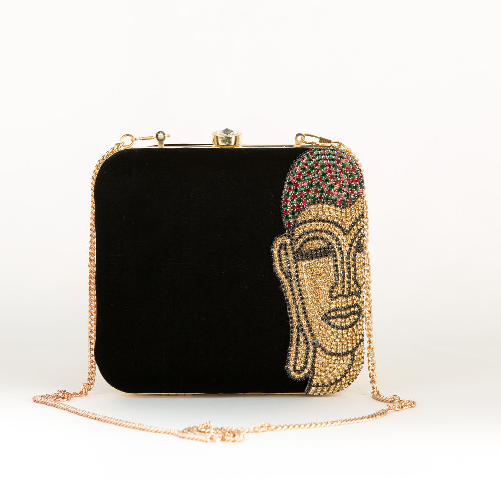 Mahatma Buddha Portrait Party Clutch