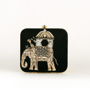 Indian Royal Elephant Portrait Party Clutch