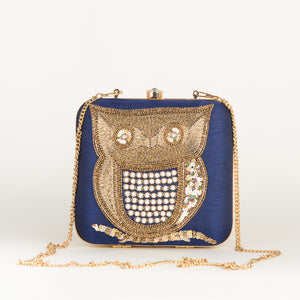 Bird Embroider Party Clutch