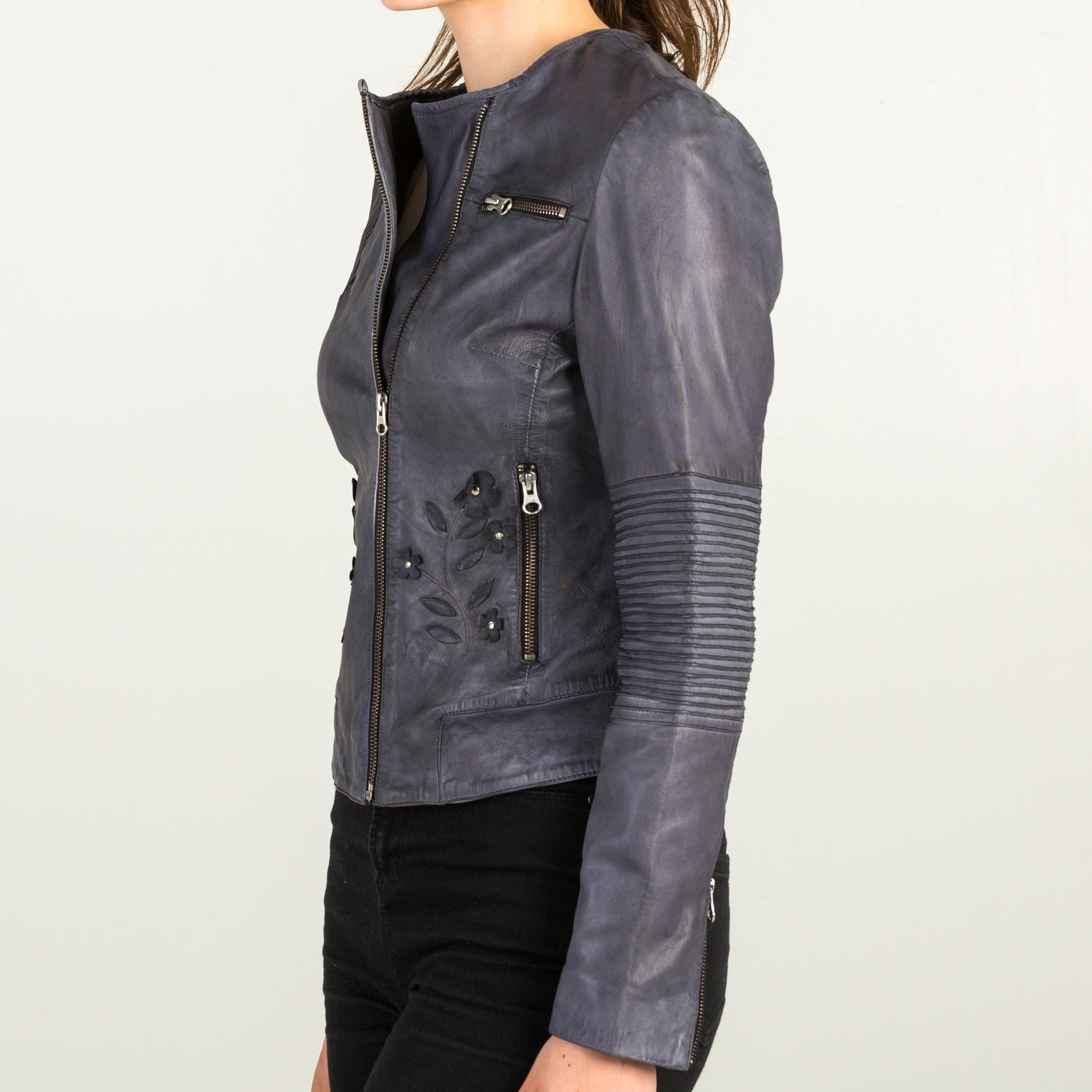 Dull Black Leather Jacket
