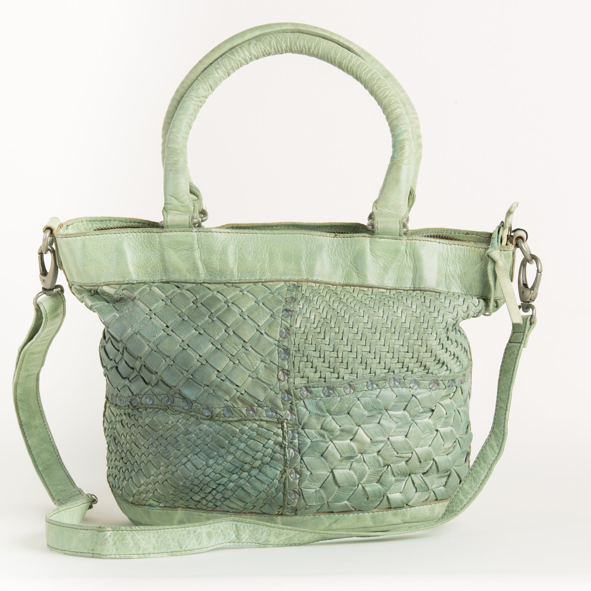 Green Leather Handbag