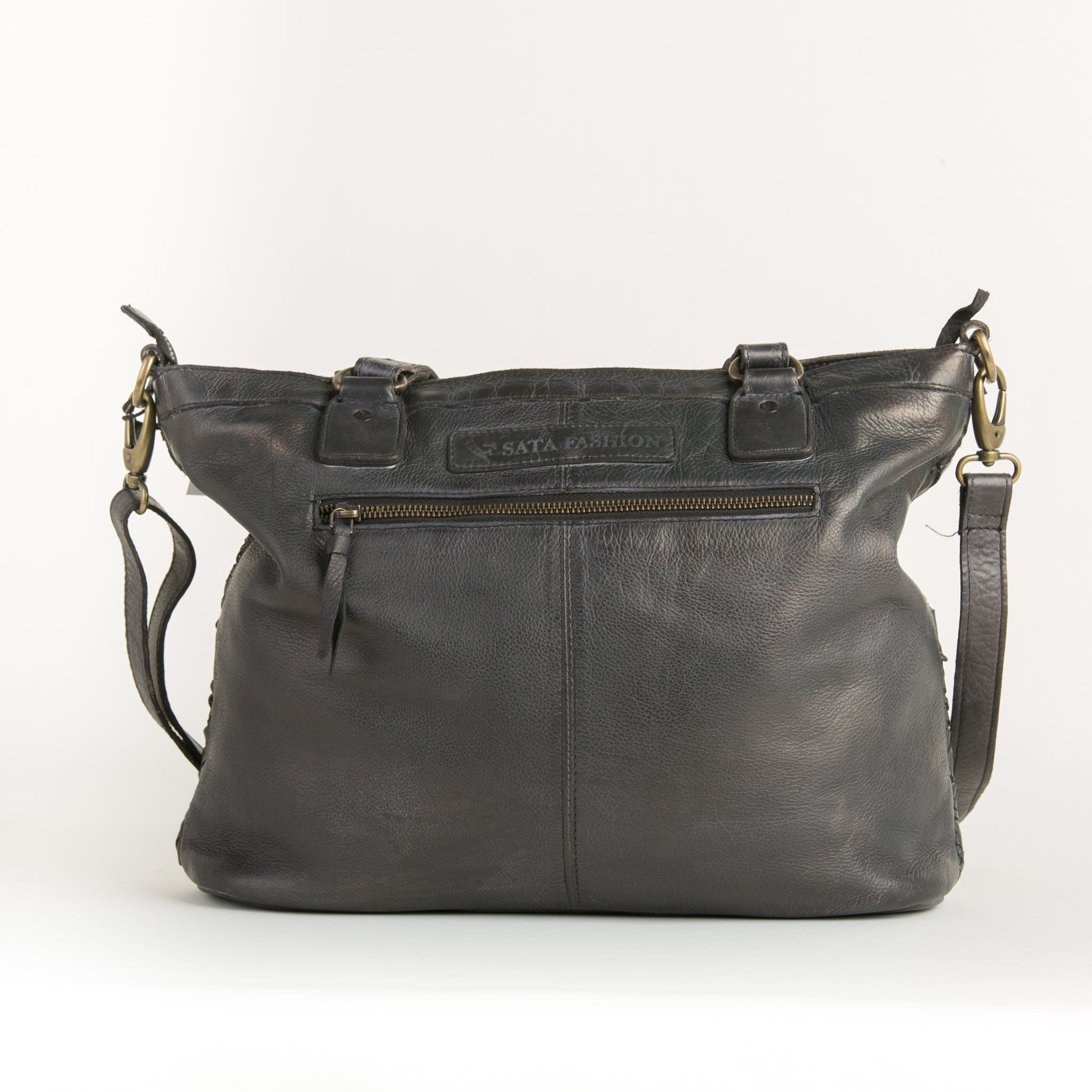Washed Leather Handbag