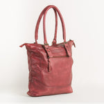 Cherry leather Tote Bag