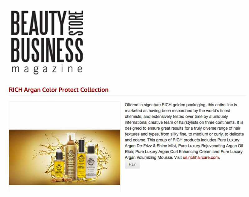 BEAUTY STORE BUSINESS MAGAZINE FEATURED RICH